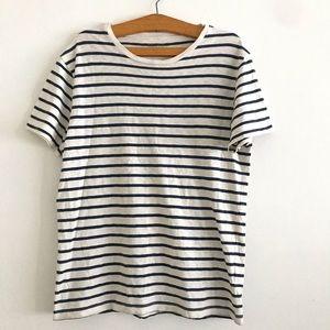 J.Crew oversized boyfriend fit striped t-shirt